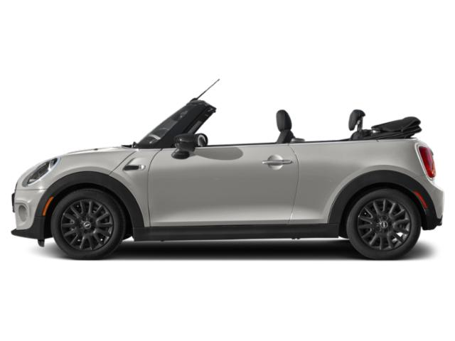 White Silver Metallic 2021 MINI Convertible Pictures Convertible Cooper FWD photos side view