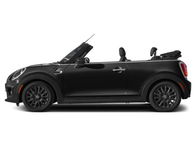 Midnight Black Metallic 2021 MINI Convertible Pictures Convertible Cooper FWD photos side view