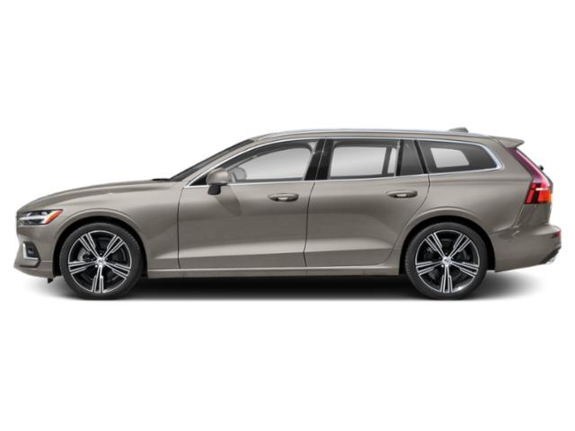 Pebble Grey Metallic 2021 Volvo V60 Pictures V60 T5 FWD Momentum photos side view