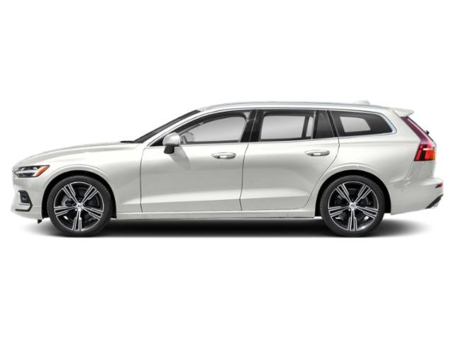 Crystal White Metallic 2021 Volvo V60 Pictures V60 T5 FWD Momentum photos side view