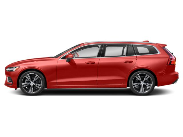 Fusion Red Metallic 2021 Volvo V60 Pictures V60 T5 FWD Momentum photos side view