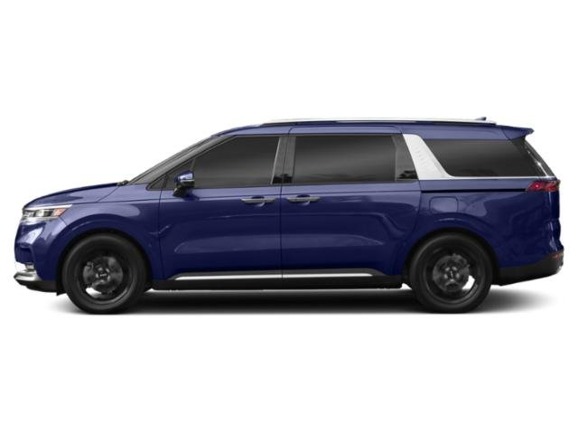 Deep Chroma Blue 2022 Kia Carnival Pictures Carnival LX FWD photos side view