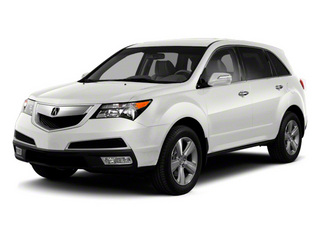 Aspen White Pearl 2010 Acura MDX Pictures MDX Utility 4D Technology AWD photos front view