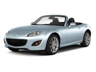 Liquid Silver Metallic 2010 Mazda MX-5 Miata Pictures MX-5 Miata Convertible 2D Sport photos front view
