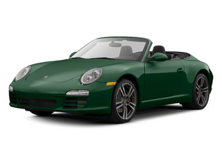Malachite Green Metallic 2010 Porsche 911 Pictures 911 Cabriolet 2D 4 AWD photos front view