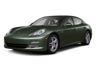 Jet Green Metallic 2010 Porsche Panamera Pictures Panamera Hatchback 4D Turbo AWD photos front view