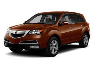 Ionized Bronze Metallic 2011 Acura MDX Pictures MDX Utility 4D Technology AWD photos front view