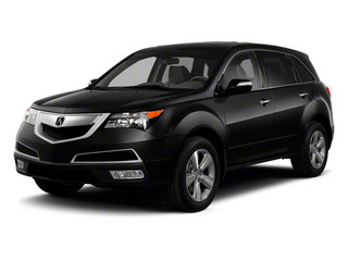 Crystal Black Pearl 2011 Acura MDX Pictures MDX Utility 4D Advance DVD AWD photos front view