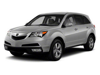 Palladium Metallic 2011 Acura MDX Pictures MDX Utility 4D Advance DVD AWD photos front view