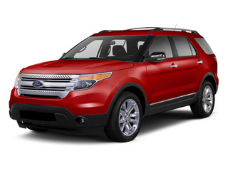 Red Candy Metallic Tinted Clearcoat 2011 Ford Explorer Pictures Explorer Utility 4D XLT 2WD photos front view