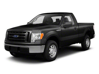 Black 2011 Ford F-150 Pictures F-150 Regular Cab XLT 2WD photos front view
