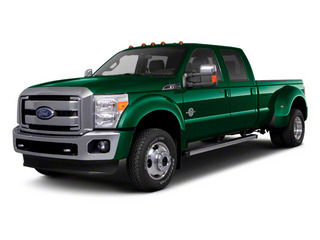 Forest Green Metallic 2011 Ford Super Duty F-450 DRW Pictures Super Duty F-450 DRW Crew Cab Lariat 4WD T-Diesel photos front view