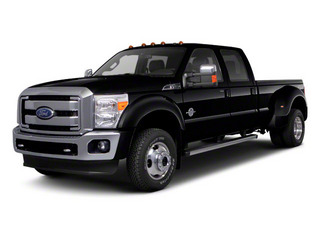 Black 2011 Ford Super Duty F-450 DRW Pictures Super Duty F-450 DRW Crew Cab Lariat 4WD T-Diesel photos front view