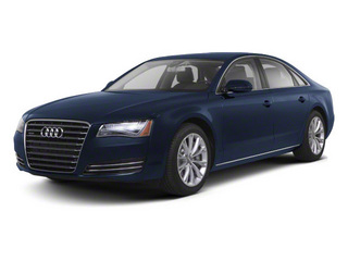 Night Blue Pearl 2012 Audi A8 Pictures A8 Sedan 4D 4.2 Quattro photos front view