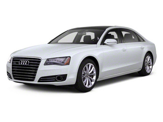 Glacier White Metallic 2012 Audi A8 L Pictures A8 L Sedan 4D 4.2 Quattro L photos front view