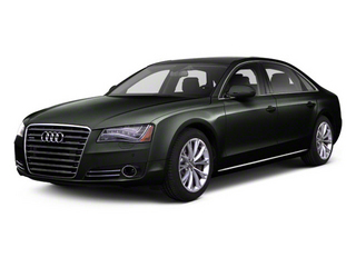 Emerald Black Metallic 2012 Audi A8 L Pictures A8 L Sedan 4D 4.2 Quattro L photos front view