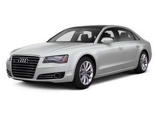 Ice Silver Metallic 2012 Audi A8 L Pictures A8 L Sedan 4D 4.2 Quattro L photos front view