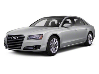 Quartz Gray Metallic 2012 Audi A8 L Pictures A8 L Sedan 4D 4.2 Quattro L photos front view