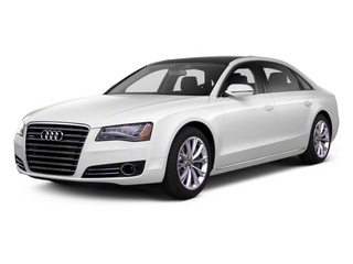 Ibis White 2012 Audi A8 L Pictures A8 L Sedan 4D 4.2 Quattro L photos front view