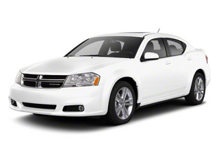 Bright White 2012 Dodge Avenger Pictures Avenger Sedan 4D SXT photos front view