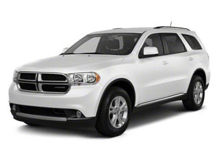 Stone White 2012 Dodge Durango Pictures Durango Utility 4D Crew AWD photos front view