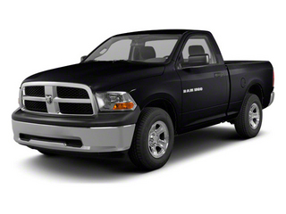 Black 2012 Ram Truck 1500 Pictures 1500 Regular Cab ST 4WD photos front view
