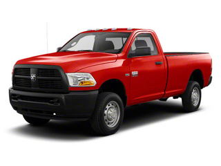 Bright Red 2012 Ram Truck 2500 Pictures 2500 Regular Cab SLT 4WD photos front view