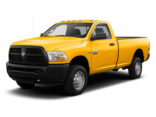 Case Construction Yellow 2012 Ram Truck 2500 Pictures 2500 Regular Cab SLT 2WD photos front view