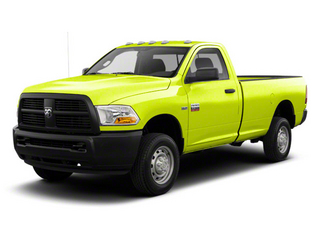 National Fire Safety Lime Yellow 2012 Ram Truck 2500 Pictures 2500 Regular Cab SLT 4WD photos front view