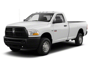 Bright White 2012 Ram Truck 2500 Pictures 2500 Regular Cab SLT 4WD photos front view