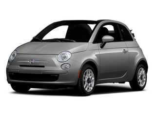 Argento (Silver) 2012 FIAT 500 Pictures 500 Convertible 2D Lounge photos front view
