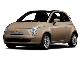 Mocha Latte 2012 FIAT 500 Pictures 500 Convertible 2D Lounge photos front view