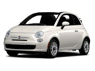 Bianco (White) 2012 FIAT 500 Pictures 500 Convertible 2D Lounge photos front view