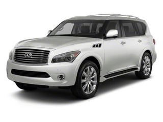 Moonlight White 2012 INFINITI QX56 Pictures QX56 Utility 4D 4WD photos front view