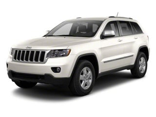Stone White 2012 Jeep Grand Cherokee Pictures Grand Cherokee Utility 4D Overland 2WD photos front view