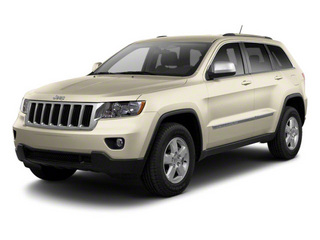 White Gold 2012 Jeep Grand Cherokee Pictures Grand Cherokee Utility 4D Overland 2WD photos front view