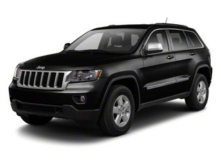 Brilliant Black Crystal Pearl 2012 Jeep Grand Cherokee Pictures Grand Cherokee Utility 4D Overland 2WD photos front view