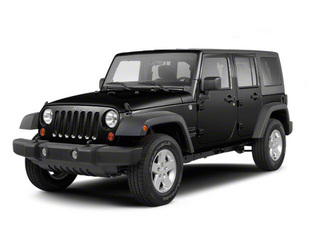 Black 2012 Jeep Wrangler Unlimited Pictures Wrangler Unlimited Utility 4D Unlimited Altitude 4WD V6 photos front view