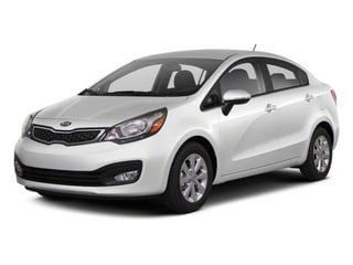 Clear White 2012 Kia Rio Pictures Rio Sedan 4D LX photos front view