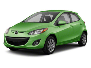 Spirited Green Metallic 2012 Mazda Mazda2 Pictures Mazda2 Hatchback 5D photos front view