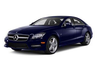 designo Mystic Blue Metallic 2012 Mercedes-Benz CLS-Class Pictures CLS-Class Sedan 4D CLS63 AMG photos front view