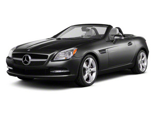 Steel Grey Metallic 2012 Mercedes-Benz SLK-Class Pictures SLK-Class Roadster 2D SLK350 photos front view