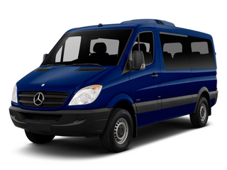Jasper Blue Metallic 2012 Mercedes-Benz Sprinter Passenger Vans Pictures Sprinter Passenger Vans Passenger Van High Roof photos front view