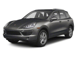 Meteor Gray Metallic 2012 Porsche Cayenne Pictures Cayenne Utility 4D Turbo AWD (V8) photos front view