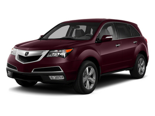 Dark Cherry Pearl 2013 Acura MDX Pictures MDX Utility 4D Technology DVD AWD V6 photos front view
