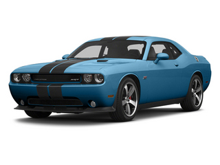 Jazz Blue Pearl 2013 Dodge Challenger Pictures Challenger Coupe 2D SRT-8 V8 photos front view
