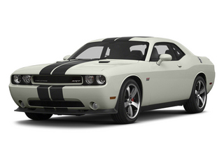 Bright White 2013 Dodge Challenger Pictures Challenger Coupe 2D SRT-8 V8 photos front view