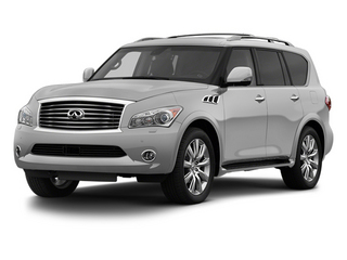 Liquid Platinum 2013 INFINITI QX56 Pictures QX56 Utility 4D 4WD photos front view