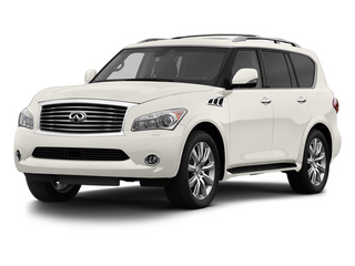 Moonlight White 2013 INFINITI QX56 Pictures QX56 Utility 4D 4WD photos front view