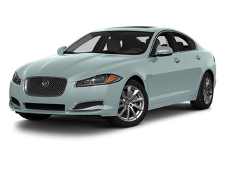Crystal Blue Metallic 2013 Jaguar XF Pictures XF Sedan 4D Portfolio AWD V6 Supercharg photos front view